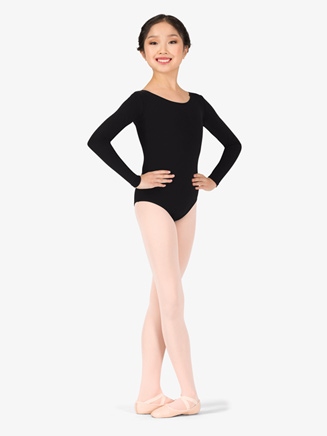 Girls Basic Long Sleeve Dance Leotard - Style No TB134C