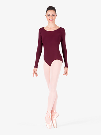 Adult Basic Long Sleeve Dance Leotard - Style No TB135