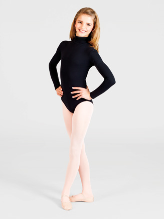 Girls Long Sleeve Turtleneck Dance Leotard - Style No TB41C