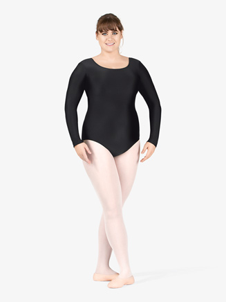 Adult Plus Size Long Sleeve Leotard - Style No TH5103W