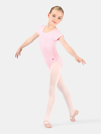 Girls Short Sleeve Dance Leotard - Style No U6074CL