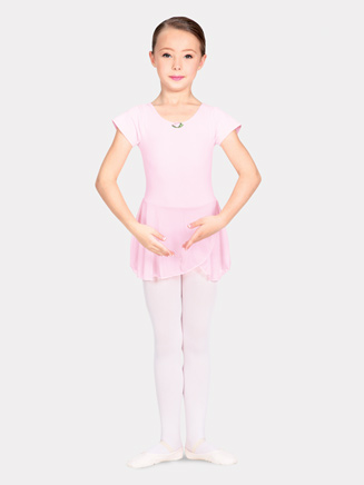 Child Short Sleeve Dance Dress - Style No U6090CP