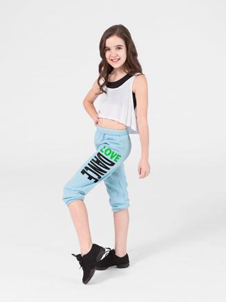 Urban Dancewear Adult and Child Love Dance Crop Sweat Pants