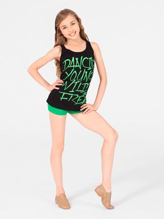 Urban Dancewear Adult and Child Dancin' Young Wild Free Tank Top