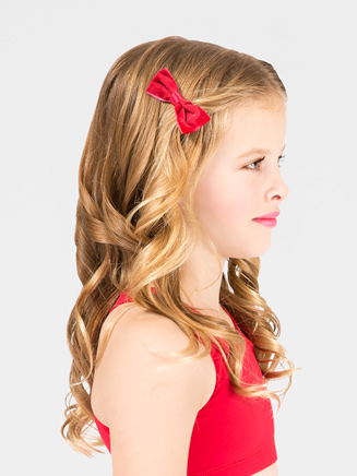 Set of 2 Velvet Hair Bows - Style No VBx