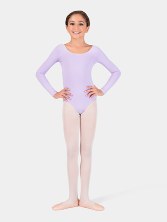 Girls Long Sleeve Dance Leotard - Style No Y4552C