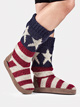 Adult American Flag Knit Boots - Style No 17297