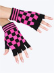 Pink Checkered Gloves - Style No 4660C