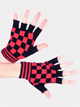 Red Checkered Gloves - Style No 4660E