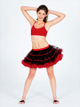 Adult Two-Tone Tutu With Ribbon Trim -