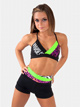 Color Block High Waist Dance Shorts - S