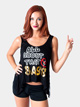 "Adult Lace Back ""All About that Bass"" Tank Top - Style No FD0218"