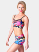 Adult Graffiti Printed Dance Short - Style No FD0222