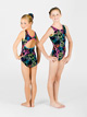 Child Neon Peace Gymnastic Tank Leotard - Style No G516C