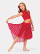 Child Mid Length High-Low Lace Skirt - Style No ING52