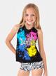 Girls Black Glitter Dance Tank - Style No K5141