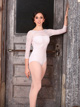 "Long Sleeve ""Grace Kelly"" Lace Leotard - Style No S2019"