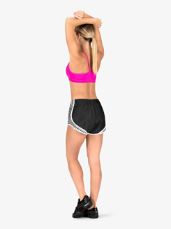 Womens Graphic Print Running Shorts