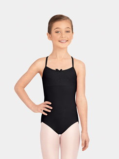 Girls Sweet Camisole Eyelet Y-Back Leotard