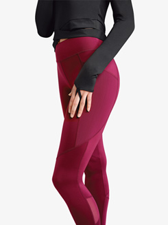 Womens Renewal Mesh Workout Dance Leggings