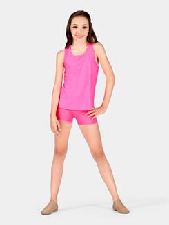 Girls Moisture Wicking Elastic Waist Shorts