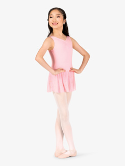 Girls Gathered Front Tank Ballet Dress