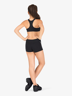 Girls Contrast Insert Athletic Shorts