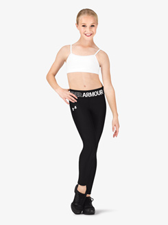 ff74f9e5189a4 Under Armour Girls Fitness Graphic Print Waistband Cropped Leggings Item   1305644