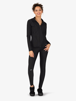 Womens Long Sleeve Full Zip Athletic Jacket
