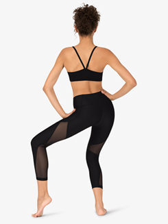 Womens Mesh Ankle Length Workout Leggings