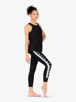Womens Graphic Print Compression Fitness Leggings