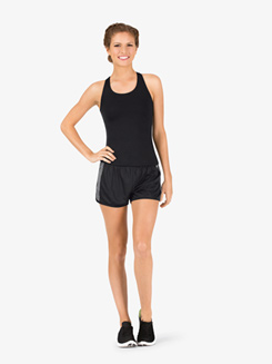 Womens Contrast Colored Athletic Shorts