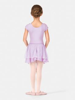 Child Elasticized Waist Hologram Dot Skirt