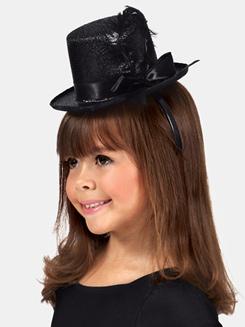 Metallic Top Hat Headbands 1 Dozen