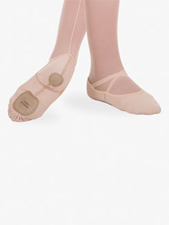Girls Total Stretch Split Sole Ballet Shoes