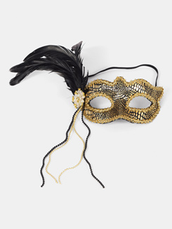Feather Mardi Gras Mask