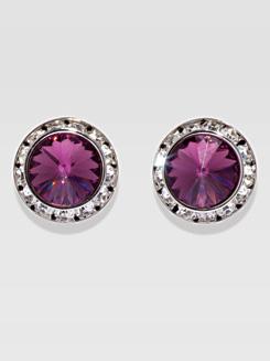 20MM Pierced Swarovski Crystal Earrings