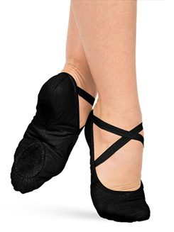 Adult Silhouette Leather Split-Sole Ballet Shoes