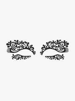 Featherette Stick-On Face Lace