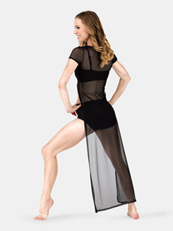 Adult Cap Sleeve Hi-lo Sheer Tunic
