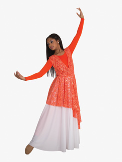 Adult Plus Size Single Layer Worship Circle Skirt