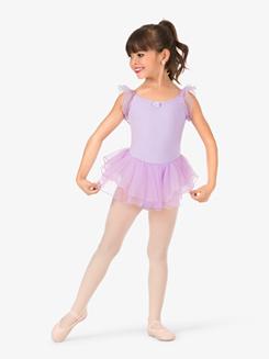 Girls Flutter Sleeve Camisole Dress