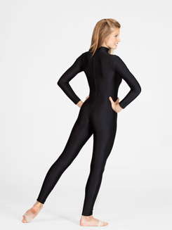 Adult Unisex Long Sleeve Mock Neck Unitard