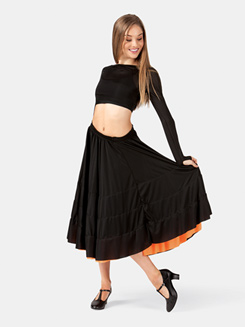 Adult Cancan 3-Color Ruffle Skirt