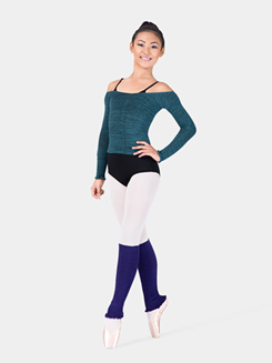 Adult Long Sleeve Acrylic Stretch Ballet Neck Top