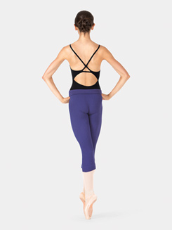 Adult Warmup Bamboo Material Capri Leggings