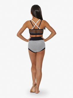 Girls Big Hole Mesh High Waist Dance Briefs
