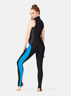 Adult Collared 3-Tone Stirrup Leg Jumpsuit