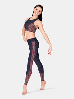 Adult Printed Side Insert Leggings