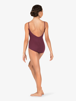 Womens Pinch Front Compression Camisole Leotard